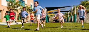 Commercial photo of children running taken by Atlanta location photographer Chris Hamilton.